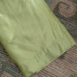 Light/lime green curtains